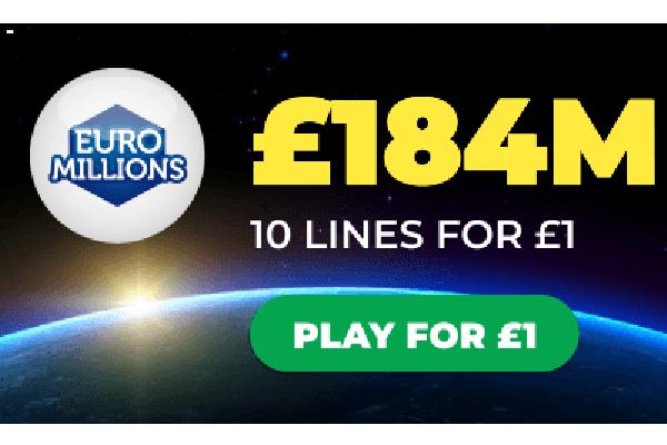 Free Lottery Ticket – £184m Jackpot